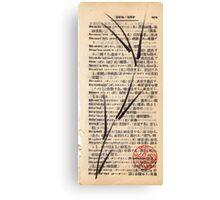 'De-ni'al' brush pen bamboo dictionary sketch #201 Canvas Print