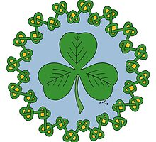 Shamrock and Knotwork by Richard Fay