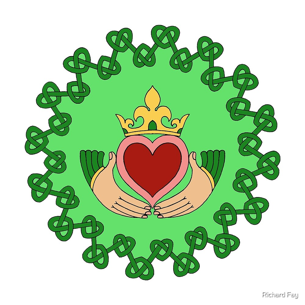Claddagh and Knotwork Green by Richard Fay