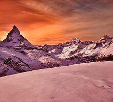 Sunset on the Matterhorn  by Mario Curcio