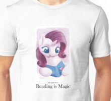 Reading is Magic: Rarity Unisex T-Shirt