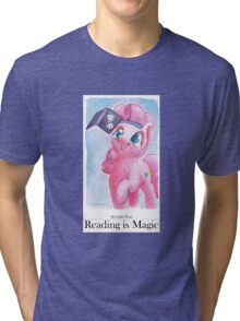 Reading is Magic: Pinkie Pie Tri-blend T-Shirt