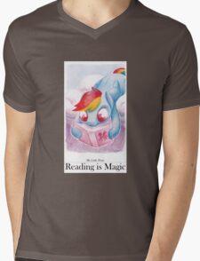 Reading is Magic: Radinbow Dash Mens V-Neck T-Shirt