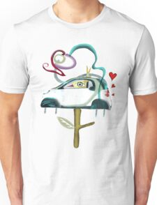 Low CO2 emission ecology driving fun smart shirt Unisex T-Shirt