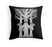 Denizens of the Diabolic Wood Throw Pillow