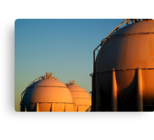 Industrail, Fuel Storage Tanks,Geelong Canvas Print