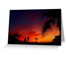 Saturday Sunset Greeting Card