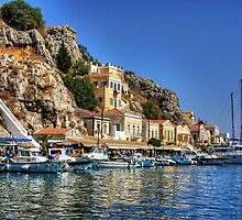 Symi Houses by Tom Gomez