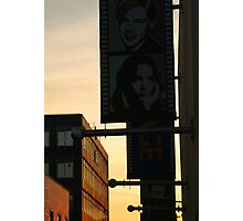 Back Alley,Movie Theatre Banners,Geelong Photographic Print