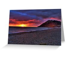 Sunrise in Bray, Co. Wicklow Greeting Card