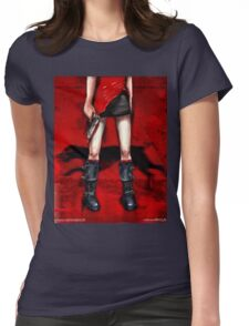 Red Dress & Zombie Dog Womens Fitted T-Shirt