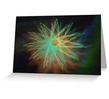 Electrical Star Greeting Card