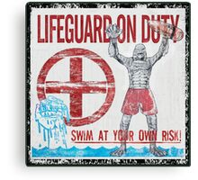 The Lifeguard Creature Is On Duty (2) Canvas Print