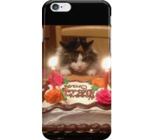 Kitty Cat Birthday Hat iPhone Case/Skin