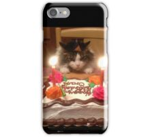 Kitty Cat Birthday Hat iPhone Case/Skin