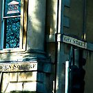 Where Gay and Queen Street meet in Bath by sparrowdk
