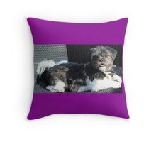 Bailey the Shih Tzu (purple) Throw Pillow