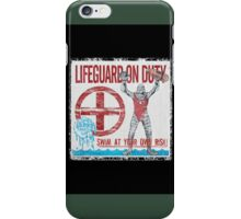 The Lifeguard Creature Is On Duty (1) iPhone Case/Skin