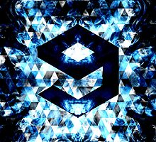 9GAG Electrifying blue sparkly triangle flames by PLdesign