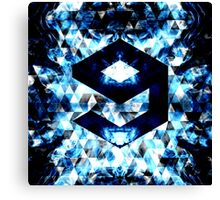 9GAG Electrifying blue sparkly triangle flames Canvas Print