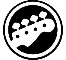 Guitar hero bass icon Photographic Print