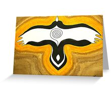 Crow Blessing original painting Greeting Card