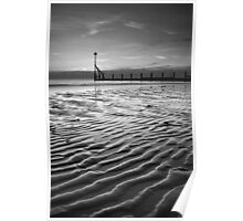 The sand rippled black and white Poster