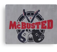 McBusted logo take of The Mighty Ducks Canvas Print