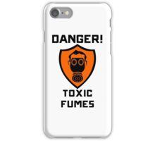 Warning - Danger Toxic Fumes iPhone Case/Skin