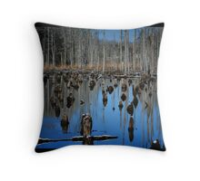 Water Trees Throw Pillow