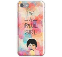 """I'm a Paul girl"" Beatles design iPhone Case/Skin"