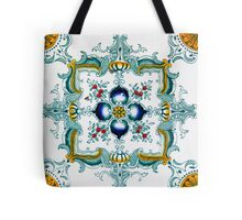 Victorian Wall Tiles Pattern Tote Bag