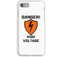 Warning - Danger High Voltage iPhone Case/Skin