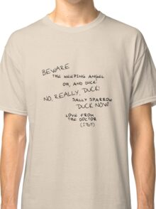 Sally Sparrow, DUCK NOW! Classic T-Shirt
