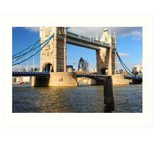 Tower Bridge and Gherkin London UK Art Print