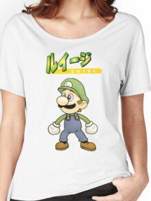 Super Smash Bros 64 Japan Luigi Women's Relaxed Fit T-Shirt