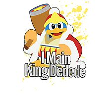 I Main King Dedede - Super Smash Bros. Photographic Print