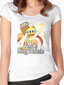 I Main King Dedede - Super Smash Bros. Women's Fitted Scoop T-Shirt