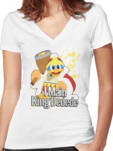I Main King Dedede - Super Smash Bros. Women's Fitted V-Neck T-Shirt