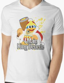 I Main King Dedede - Super Smash Bros. Mens V-Neck T-Shirt