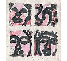 4 Heads of Buddha Photographic Print