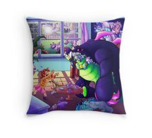Monsters don't have Good Manners at Tea Parties! Throw Pillow