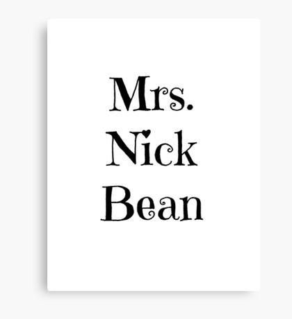Mrs. Nick Bean Canvas Print