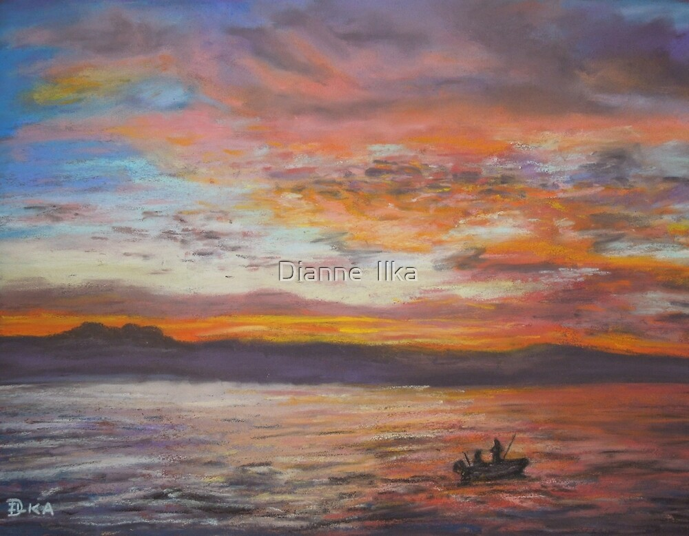 Early Morning Catch by Dianne  Ilka