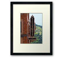 Victor Hotel Sign, Colorado Framed Print