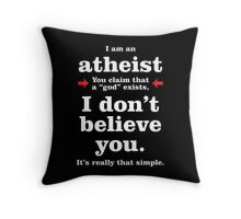 Simply Atheist Throw Pillow