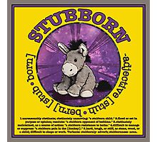 Stubborn Donkey Plush (yellow) Photographic Print