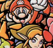Super Smash Bros 64 Japan Characters Sticker