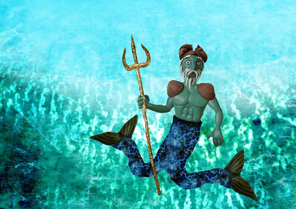 Poseidon, God of the Sea by Stijn Van Elst