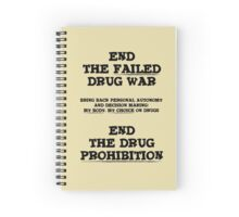 End the Prohibition Spiral Notebook